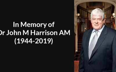 In Memory of Dr John Meredith Harrison AM (1944-2019)